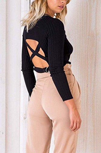 Pantalon Femmes Pirate De Ceinture Taille Style Avec Unicolore Bobolily Haute Pantalons Spécial Kaki Occasionnel Élégante Été 0qAFAwd