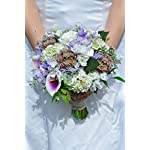Silk-Blooms-Ltd-Artificial-Lilac-Calla-Lily-Freesia-and-Rose-Bridal-Bouquet-wMini-Succulent-Bunches