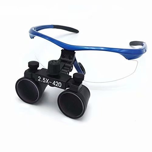Doc.Royal 2.5X420mm Surgical Medical Binocular Loupes Blue Frame And Black Cones With Black Cloth Bag by Doc.Royal (Image #3)