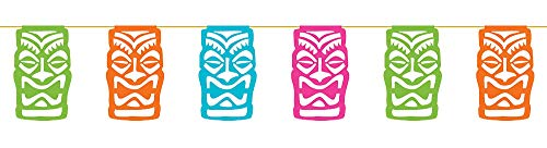 Sign Decor 12' Blue Beach (Amscan Tiki Party Flag Banner. 12')