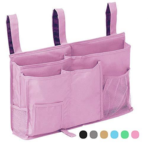 Bedside Storage Organizer, 8 Pockets Hanging Storage Bag Organizer Holder,2019 New Design Bedside Caddy for Bunk Dorm Rooms & Hospital Bed RailsBlue