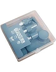 Reisflessen Set Small Sample Lege Clear Container Jar Spray Fles met Deksel Covers8pcs Grijs, Aparte Bottelen