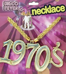 [Disco Fancy Dress 1970's Medallion Necklace by Bristol Novelties] (70s Jewellery Disco)