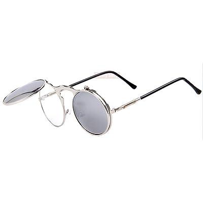 3d6781cff1200 Vintage Steampunk lunettes de soleil ronde Designer Steam Punk métal femmes  revêtement lunettes de soleil rétro cercle lunettes de soleil