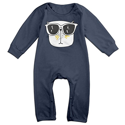 Kim Kardashian Cat Costume (Baby Infant Romper Swag-cat Long Sleeve Playsuit Outfits Navy 12 Months)