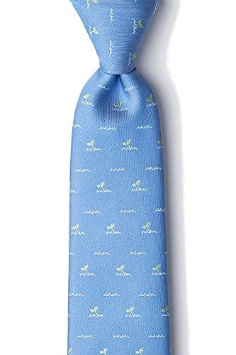 Men's Nautical Whales Tails Ocean Whale Xl Extra Long Tie Necktie (Light Blue)