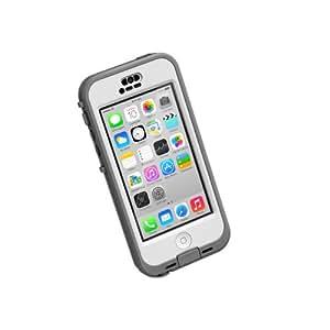 LifeProof NÜÜD iPhone 5c Waterproof Case - Retail Packaging - WHITE/CLEAR