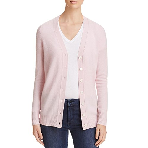 Private Label Womens Cashmere Ribbed Trim Cardigan Top Pink XS by Private Label
