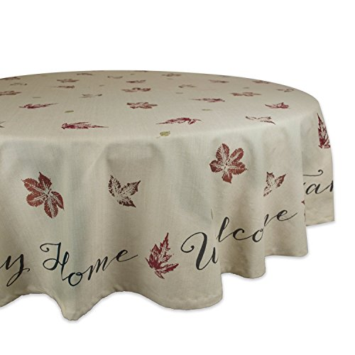 DII 100% Cotton, Machine Washable, Printed Kitchen Tablecloth For Dinner Parties, Fall, Holidays & Thanksgiving - 70