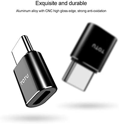 JIANGNIUS Cable Exquisite Series 5V 2.4A Micro to USB-C//Type-C Adaptor