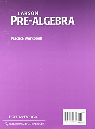 Holt McDougal Larson Pre-Algebra: Common Core Practice