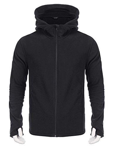 Jinidu Mens Softshell Tactical Jacket Outdoor Hooded Military Fleece Coat(Gray,M)