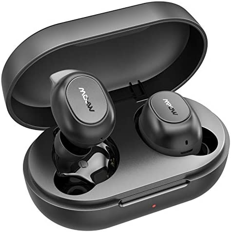 Wireless Earbuds, Mpow MDots Bluetooth Headphones in Ear w/Punchy Bass Sound, Precise Control Wireless Earphones, IPX6 Waterproof Bluetooth Earbuds, 20 Hrs Sport Earbuds w/Twin&Mono Mode/Mics, Black