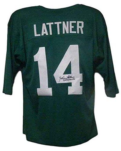 Johnny Lattner Autographed Notre Dame Irish 12086 Size Xl Jersey Green
