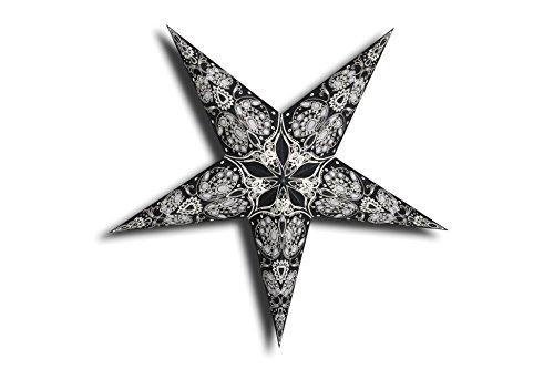 GalaxyArts - Maharani (Black) - Paper Star Lantern - Handmade by GalaxyArts
