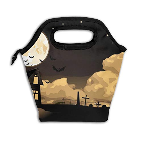 Happy Halloween Motif Lunch Tote Box Insulated Picnic Lunch Cooler Container Bag Carry Case Handbags Tote]()