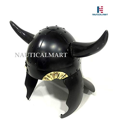 NAUTICALMART Medieval Viking Horns Helmet Reenactment Warrior Armor