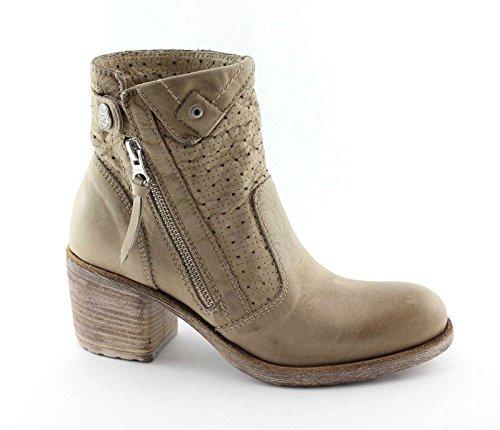 15222 JARDINS chaussures femme BLACK zip bottes taupe 5Z76wfAnq