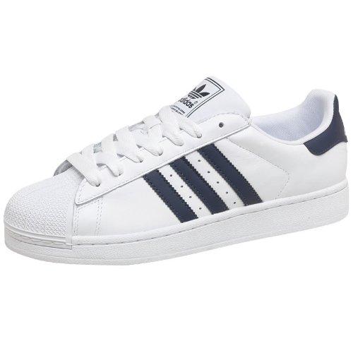 Adidas Originals Baskets pour homme Blanc/bleu marine
