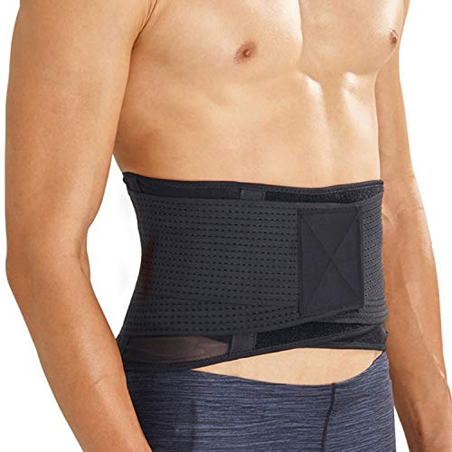 Thx4 Copper Back, Waist Compression Brace - Support for Backache, Sciatica, Hernia, Spasms, Spinal Stenosis or Slipped Disc - Adjustable Lumbar Wrap for Pain Relief, Spine Straight and Safe