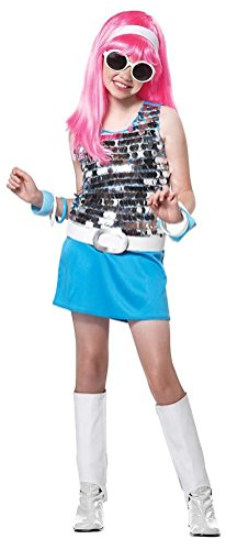[POPLife 70's Go Go Girl Disco Rock Star Child Costume] (Girls Light Up Witch Costume)