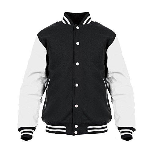 Warcraft Men's Logo Horde Glow Varsity Jacket Large Black