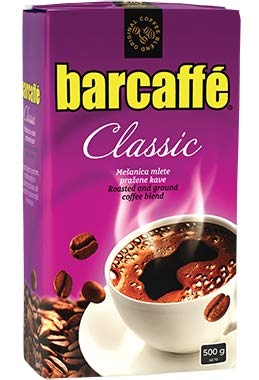 Mleta Kava Barcaffe Classic - Roasted and Ground Coffee Blend for Preparation of Turkish Coffee, 3 x 500g (17.64 oz) Vacuum Bags