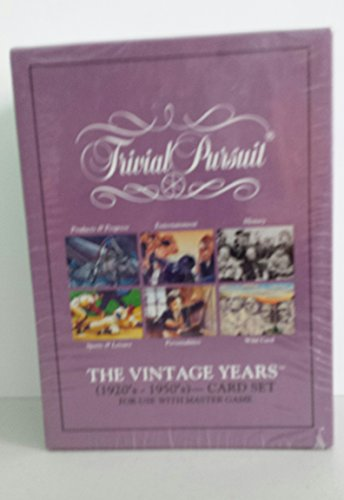 Trivial Pursuit The Vintage Years (1920's - 1950's) CARD SET for use with Master Game