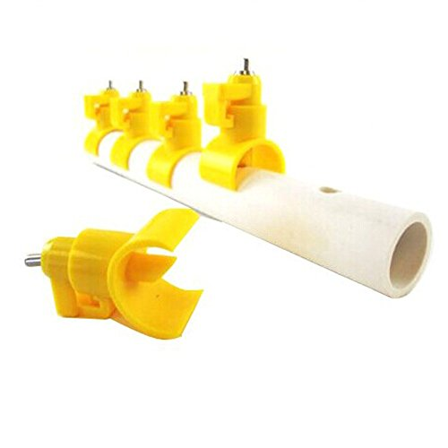 Ewandastore-10pcs-Poultry-Water-Nipples-Drinker-Feeders-Sanitary-Water-for-up-to-ChickensTurkeysGeese-or-Ducks