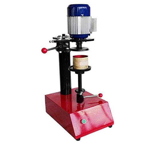 (Lolicute Cans Sealing Machine,110V Semi-Automatic Sealing Machine Guarantee for Various Circular Iron, Glass, Plastic and Paper Cans)