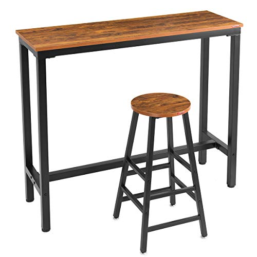 Mr IRONSTONE 2-Piece Bar Table Set, 47