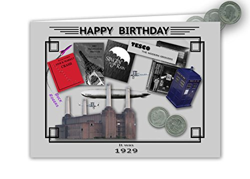 88th Birthday Card Souvenir Of 1929 Silver Sixpence Gift Set