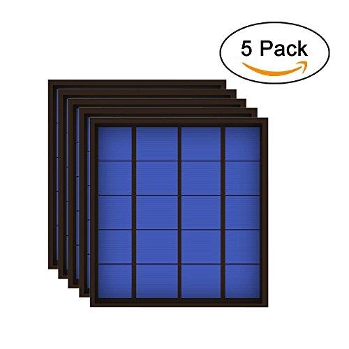 5PCS X 5V 500mA 2.5Watt 2.5W Solar Panel Standard Epoxy Polycrystalline Silicon DIY Battery Power Charge Module Mini Solar Cell toy