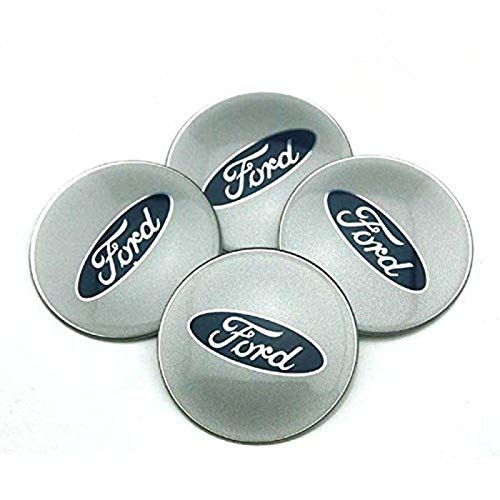 HYFML 4pcs 65mm Car Accessories Emblem Badge Sticker Wheel Hub Caps Centre Cover For Ford Focus 2 Focus 3 FIESTA F-150 Kuga FUSION ESCAPE ()