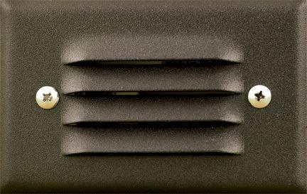 Dabmar Lighting LV617-BZ Cast Aluminum Recessed Louvered Brick/Step/Wall Light, Bronze -