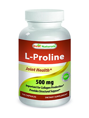 Best Naturals L-proline Amino Acid Dietary Supplement 500 Mg, 120 Count Review