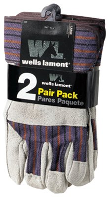 Wells Lamont Leather Palm Work Gloves, Safety Cuff, Wing Thumb