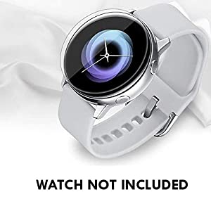 Cellfather Samsung Galaxy Watch Active (40mm) Clear Screen Protector, [Max Coverage][Bubble-Free] HD Clear Flexible Film (Watch not included)