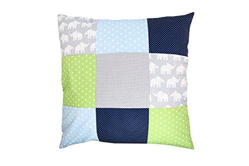 ULLENBOOM ® patchwork kussenhoes l 60×60 cm l katoenen kussensloop voor sierkussens in de kinderkamer en babykamer I…