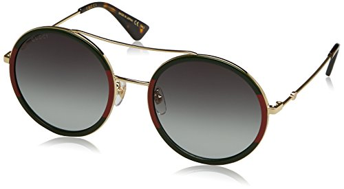 Gucci GG0061S 003 Green/Red/Gold GG0061S Round Sunglasses Lens Category 3 ()