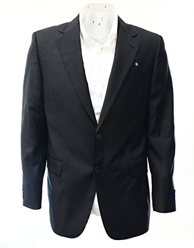 JOSEPH ABOUD Solid Blazer Jacket Men Two Button Wool Black 42