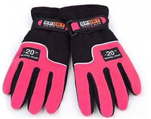 vent Black Hiver Polaire Thermique Escalade Pink amp; Tofern Pour En Coupe Chaude Hking Femmes De D'extérieur Cyclisme Ski Gants Et Filles Les YFxcnxH