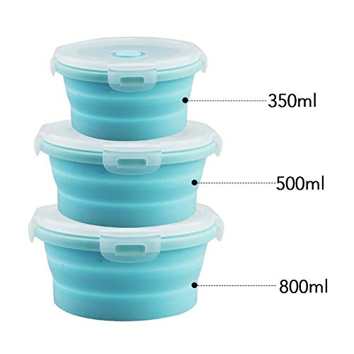 Silicone Collapsible Bento Lunch Box Food Storage Container Microwave Tableware Portable Household Outdoor Food Box -