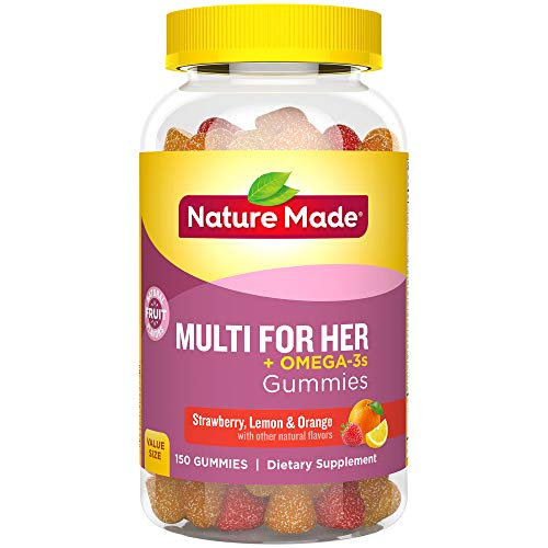 Nature Made Women's Multivitamin + Omega-3 Gummies, 150 Count Value Size (Packaging May Vary) (Best Gummy Vitamins For Women)