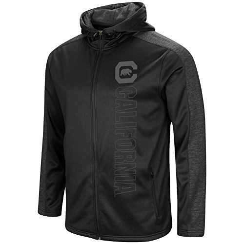Cal Berkeley Golden Bears Men's Full Zip Jacket Blackout Hoodie (XX-Large) Cal Golden Bears Mens Jacket