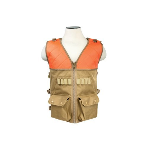 Blaze Orange Hunting Vests (Hunting Vest/Blaze Orange And Tan)