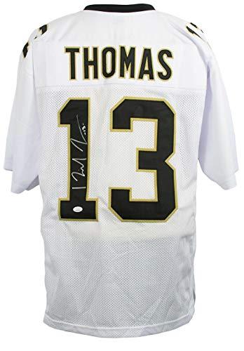 - Michael Thomas Signed Jersey - Full Custom White Pro Style - JSA Certified - Autographed NFL Jerseys