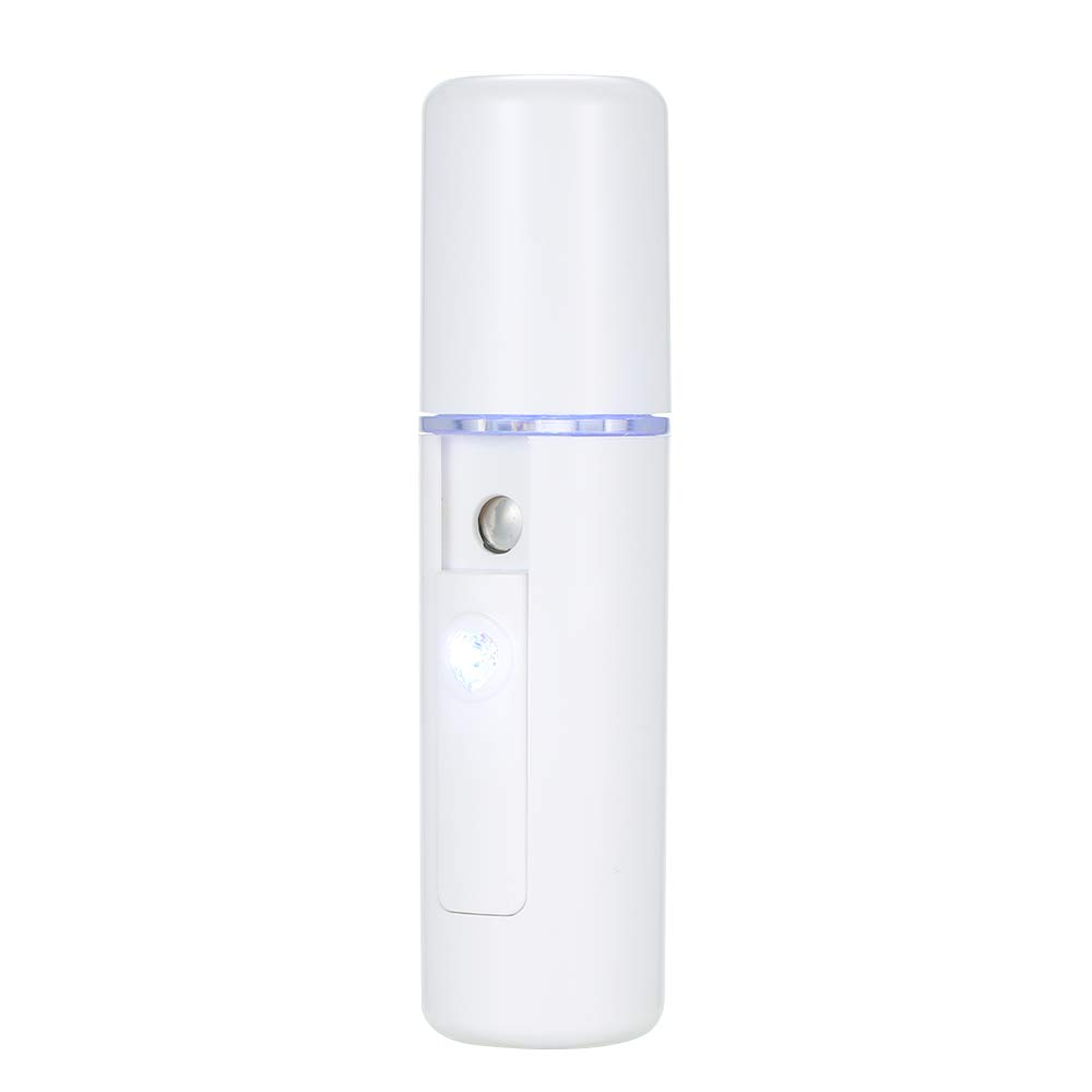 Anself Mini Nano Mister Spray Moisture Beauty Moisturizing Hydrating Portable Spray Device Facial Steamer Face Care USB Rechargeable Humidifier Nano Handheld Sprayer W7882-XUYVNJ