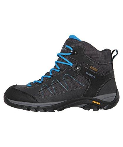 McKINLEY Damen Trekkingstiefel Denali Mid AQX Ii Trekking-& Wanderstiefel Grau (Grey Dark/ Turquoise 000)