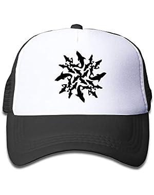Shark Circle On Children's Trucker Hat, Youth Toddler Mesh Hats Baseball Cap